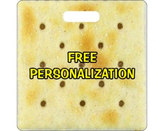 Saltine Cracker Personalized Square Luggage Bag Tag
