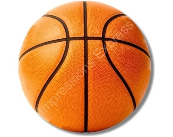 Orange Basketball Round Mousepad