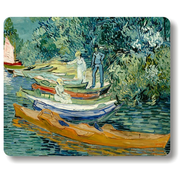 On the banks of the Oise at Auvers Van Gogh Painting Mousepad