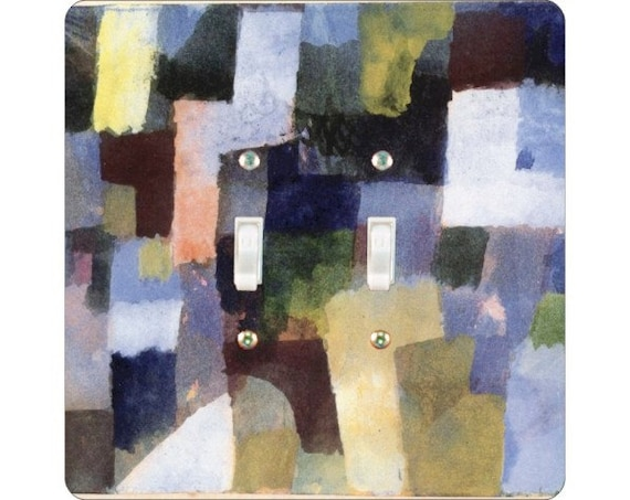 Paul Klee Painting Square Double Toggle Light Switch Plate Cover