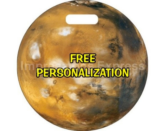 Planet Mars Space Personalized Luggage Bag Tag