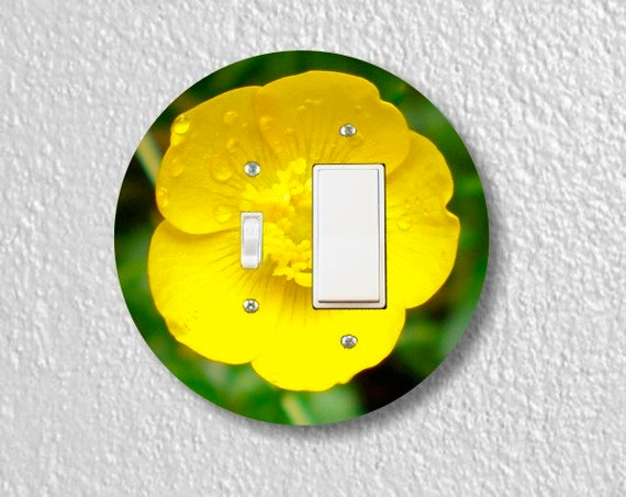 Buttercup Flower Round Toggle and Decora Rocker Switch Plate Cover