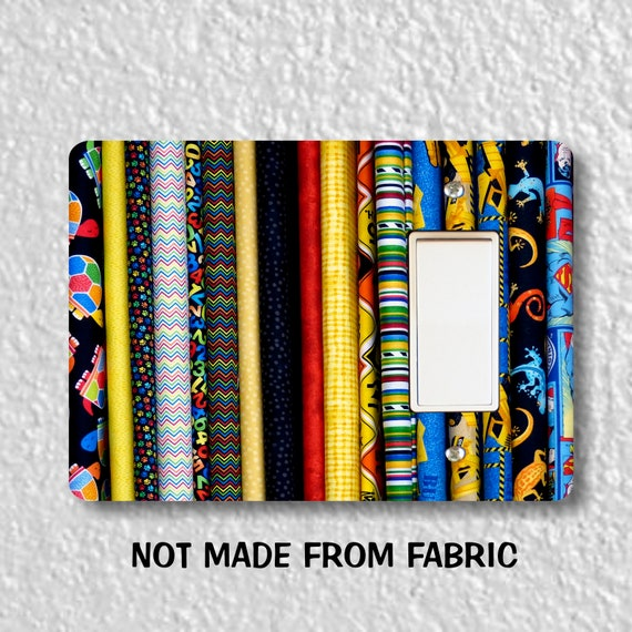 Quilt Fabric Decora Rocker Light Switch Plate Cover