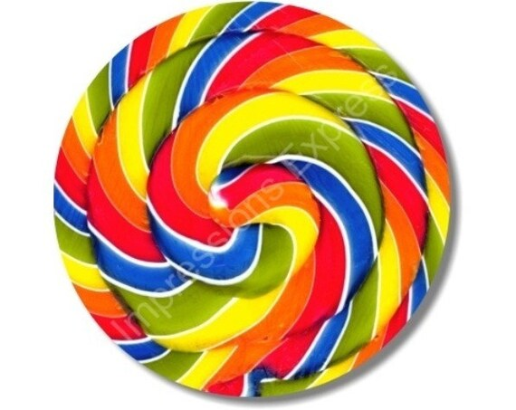 Giant Lollipop Round Mousepad