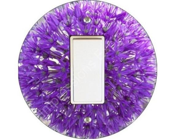 Purple Allium Flower Decora Rocker Switch Plate Cover