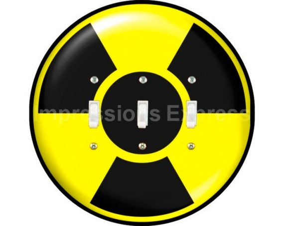 Radioactive Sign Triple Toggle Light Switch Plate Cover