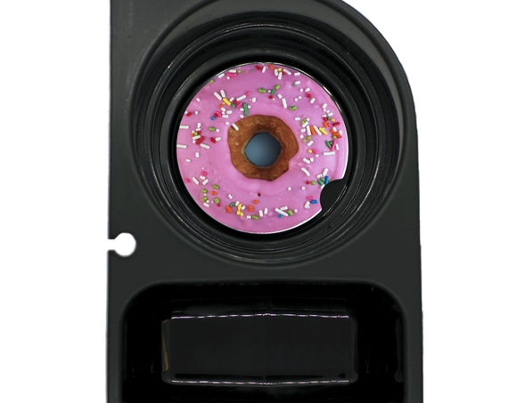 Pink Doughnut Round Sandstone Car Cupholder Coaster