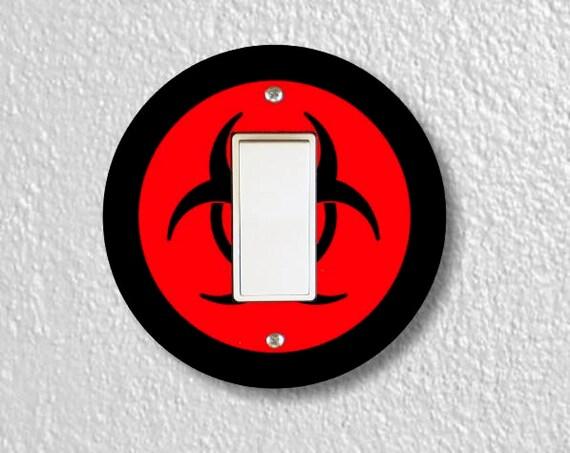 Biohazard Sign Round Decora Rocker Switch Plate Cover
