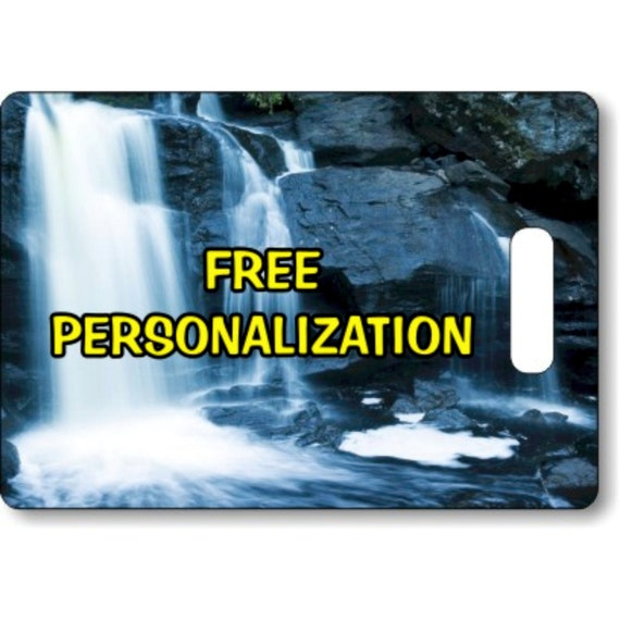 Waterfall Personalized Rectangle Luggage Tote Bag Tag