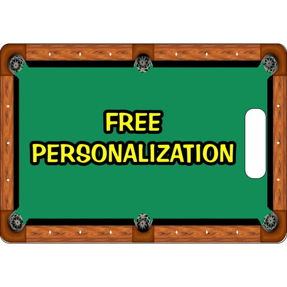 Billiard Table Personalized Rectangle Luggage Tote Bag Tag