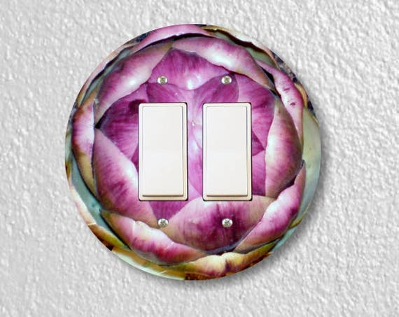 Artichoke Decora Double Rocker Round Light Switch Plate Cover