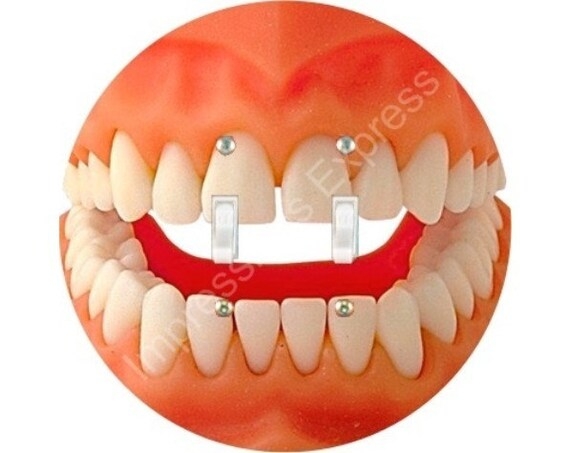 Teeth Double Toggle Switch Plate Cover