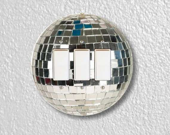 Disco Ball Round Triple Decora Rocker Switch Plate Cover
