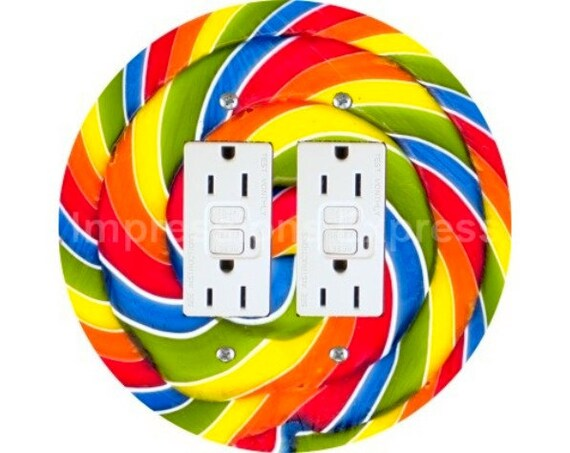 Giant Lollipop Double GFI Outlet Plate Cover