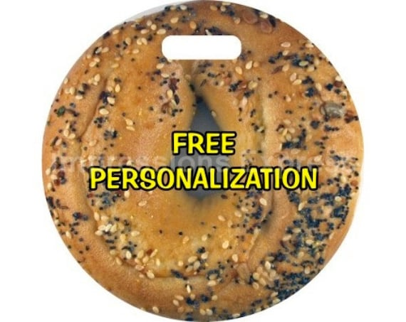 Bagel Round Personalized Luggage Bag Tag
