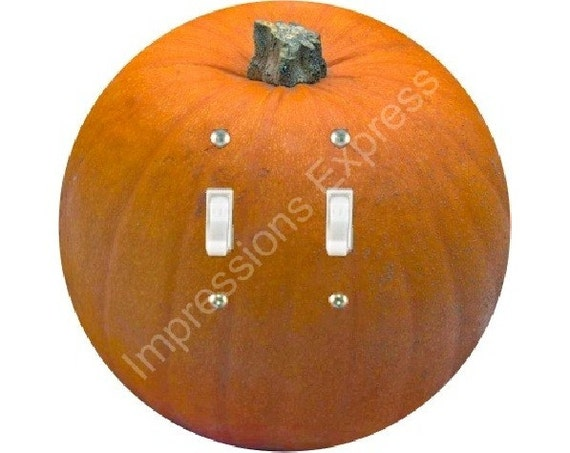 Pumpkin Double Toggle Light Switch Plate Cover