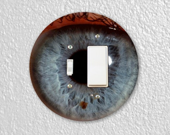 Eye Ball Precision Laser Cut Round Toggle and Decora Rocker Light Switch Wall Plate Cover