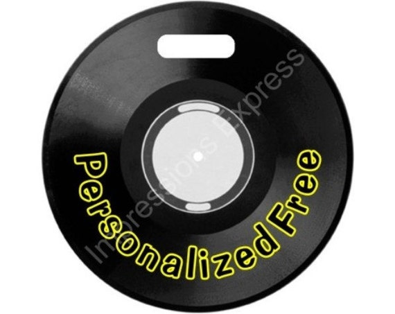 Vinyl Record Personalized Luggage Bag Tag