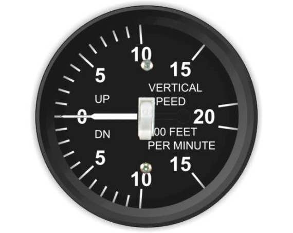 Vertical Speed Indicator Aviation Single Toggle Switch Plate Cover