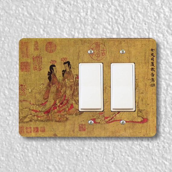Admonitions Scroll Chinese Painting Double Decora Rocker Light Switch Plate Cover