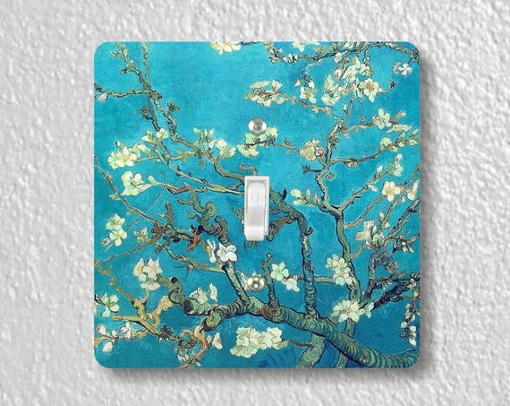 Vincent Van Gogh Almond Branches - Precision Laser Cut Toggle and Decora Rocker Square Light Switch Plate Covers - Home Decor - Wall Plates