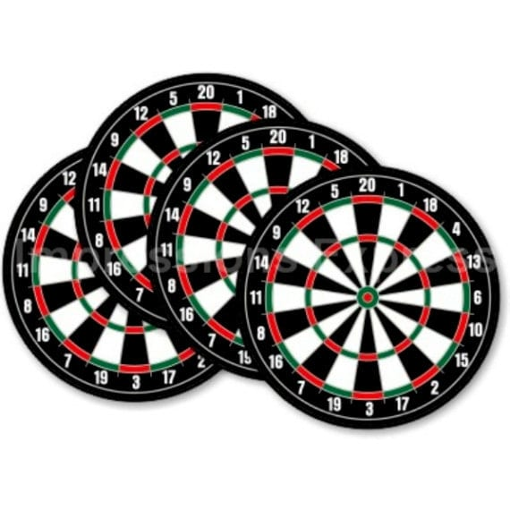 Darts Dartboard Coasters - Set of 4