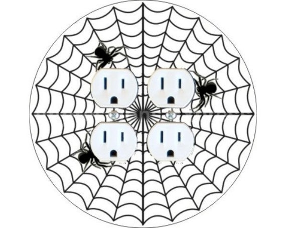 Spider Web Double Duplex Outlet Plate Cover