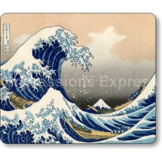 Kanagawa Great Wave Hokusai Painting Mousepad