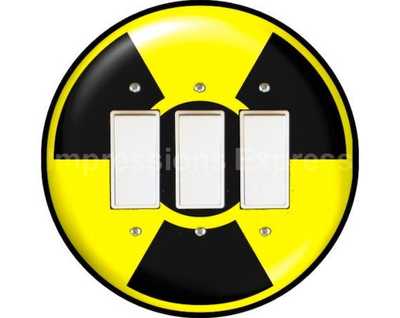 Radioactive Sign Triple Decora Rocker Switch Plate Cover