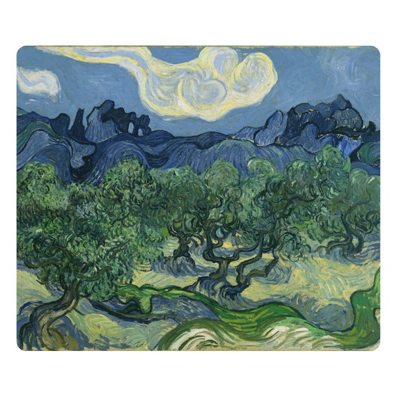 Olive Trees Van Gogh Painting Mousepad
