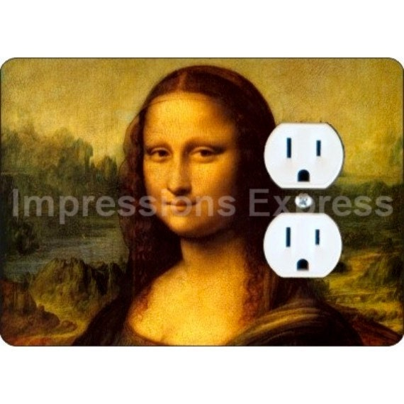 Mona Lisa Da Vinci Painting Duplex Outlet Plate Cover