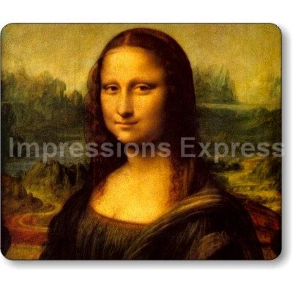 Leonardo Da Vinci Mona Lisa Painting Mousepad