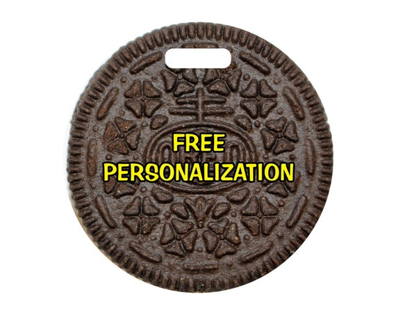 Chocolate Sandwich Cookie Round Personalized Luggage Bag Tag