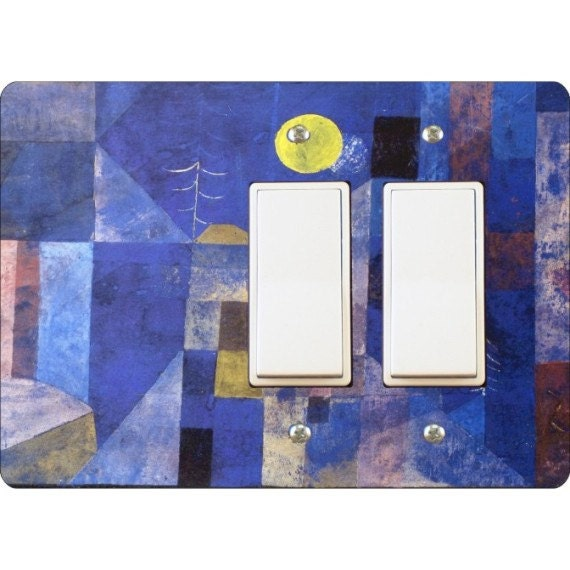 Paul Klee Moonlight Painting Double Decora Rocker Light Switch Plate Cover