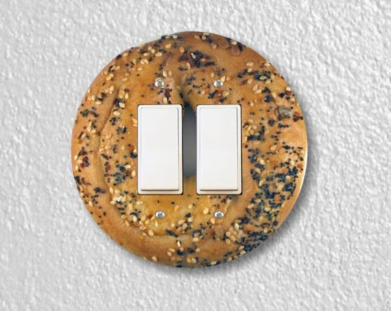 Bagel Round Decora Double Rocker Switch Plate Cover