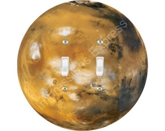 Planet Mars Space Double Toggle Switch Plate Cover