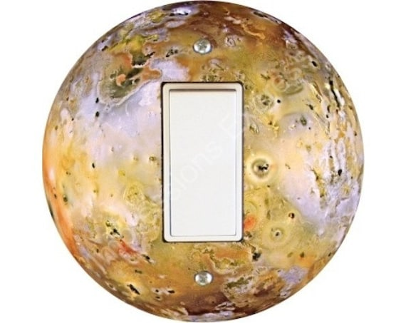 Jupiter Moon Io Space Decora Rocker Switch Plate Cover