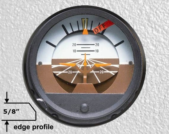Attitude Indicator Aviation Large Wall Plaque