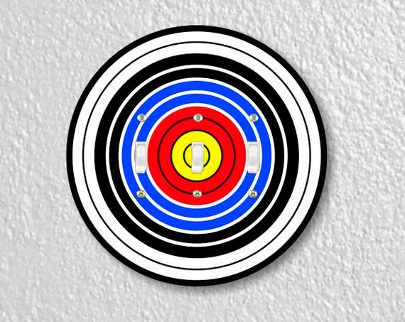 Archery Target Triple Toggle Round Light Switch Plate Cover