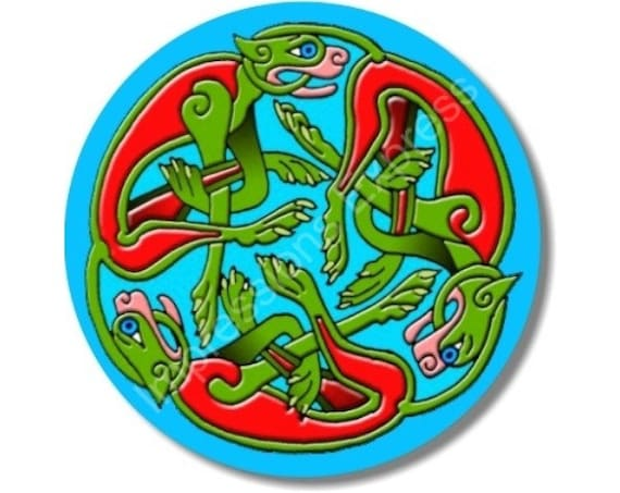 Celtic Dragon Round Mousepad
