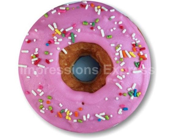 Pink Doughnut Round Mousepad