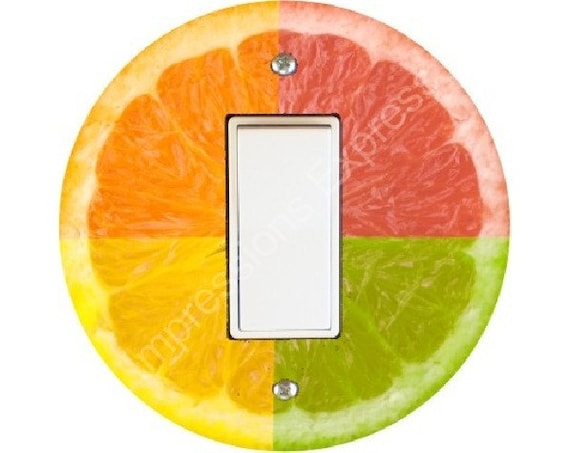 Funky Grapefruit Fruit Decora Rocker Switch Plate Cover