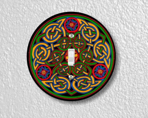 Celtic Knot Round Single Toggle Light Switch Plate Cover