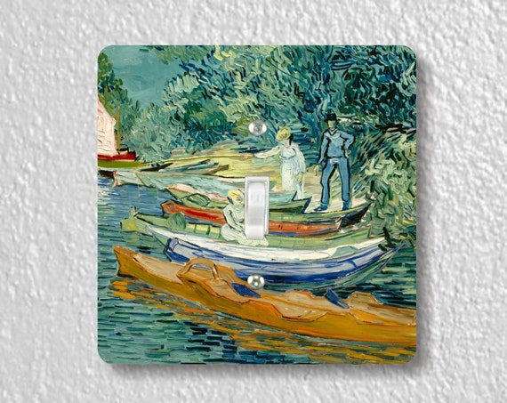 Vincent Van Gogh On the Banks of the Oise at Auvers Precision Laser Cut Toggle and Decora Rocker Square Light Switch Wall Plate Covers