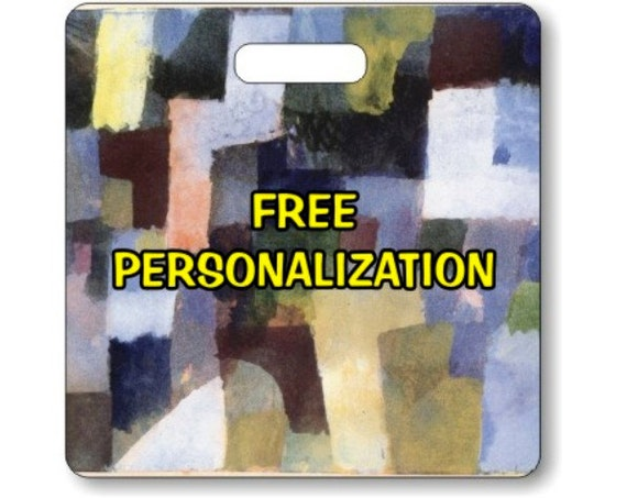 Paul Klee Painting Personalized Square Luggage Bag Tag