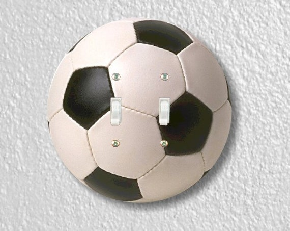 Soccer Sports Ball Round Double Toggle Light Switch Plate Cover