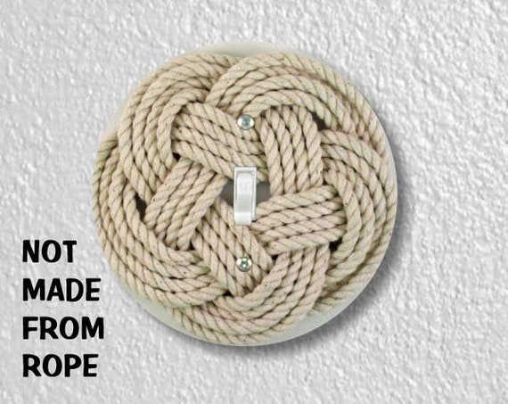 Turk's Head Knot Nautical Photo Round Single Toggle Switch Plate Cover