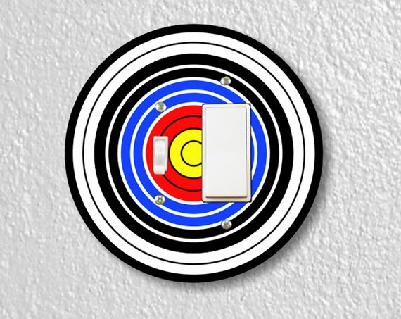 Archery Target Precision Laser Cut Toggle and Decora Rocker Round Light Switch Wall Plate Cover