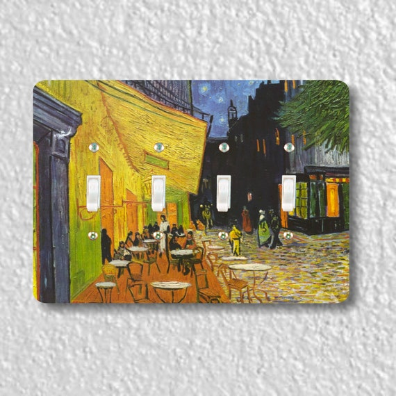 Café Terrace at Night Van Gogh Painting Quadruple Toggle Light Switch Plate Cover