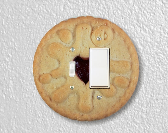 Jam Filled Cookie Precision Laser Cut Round Toggle and Decora Rocker Light Switch Wall Plate Cover